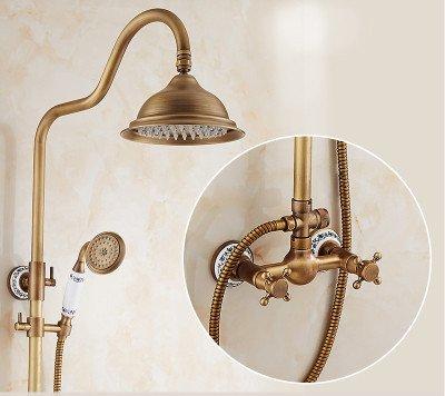 C6 GFEI Antique shower faucet set   full copper faucet, Continental bath, shower shower   Retro shower,A6