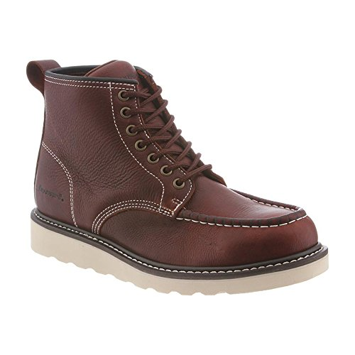 Fusion Moc Toe (Bearpaw Men's Crockett Moc Toe Boots, Brown Leather, 10)