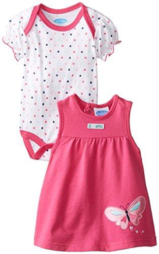 Set Jumper Butterfly - Bon Bebe Baby Girls' French Terry Jumper Set, Butterfly Pink, 3-6 Months