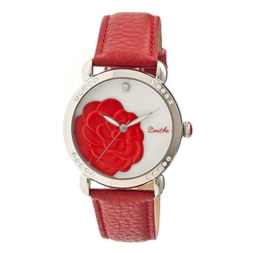 bertha-womens-bthbr4604-daphne-mop-red-genuine-leather-strap-watch