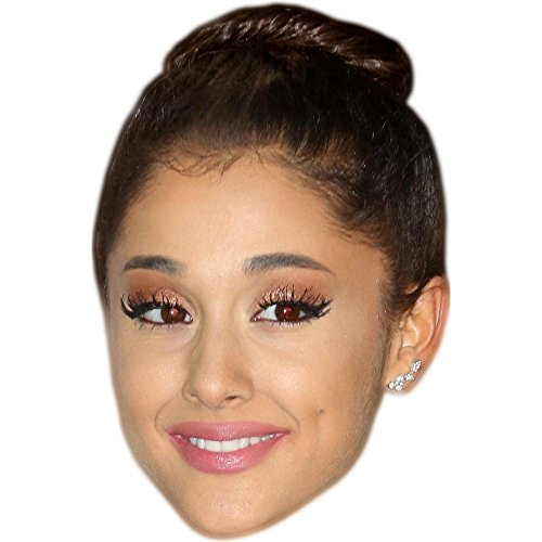 Ariana Grande (Hair Up) Celebrity Mask, Card Face and Fancy Dress Mask (Ariana Grande Best Dresses)