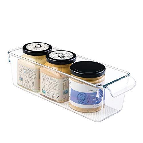 InterDesign Linus Caja para almacenaje, organizador para la cocina de plástico de tamaño pequeño, caja con asas,...