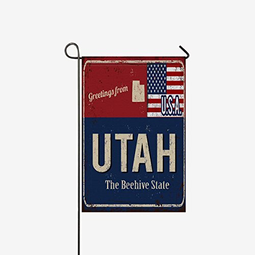 InterestPrint Greetings from Utah Rusty Metal Sign with Amer