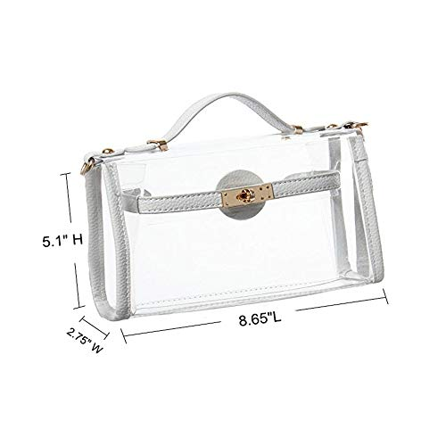 Shoulder Stadium Red Cross Messenger Body Style NFL GOGO a Bag Approved Transparent xI0SBwB