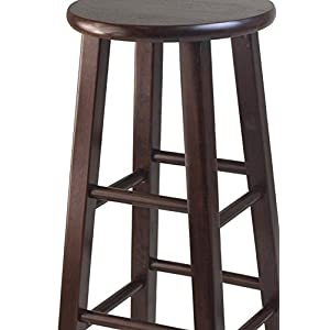 Winsome 29-Inch Square Leg Bar Stool, Set of 2