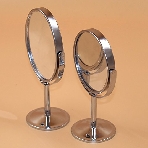adecco-llc-mini-stainless-steel-two-sided-2x-magnification-personal-portable-makeup-mirror-swivel-ro
