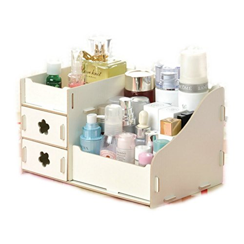 DIY Wooden Home Office Desk Drawer & Makeup Storage Cosmetic Organizer Jewery Box (Makeup Console compare prices)