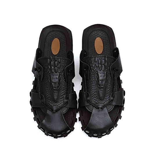 Baotou Resistente Comfort Black Sandals Casual Abrasión Antideslizante Respirable Zapato Soft La A Gray 42 rr4qT
