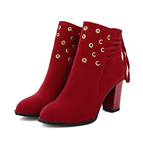 Adee Bottes Pour Femme - Rouge - Red, 36.5 EU