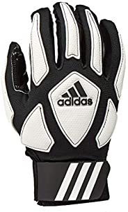 adidas Scorch Destroy 2 Full Finger Football Lineman Glove, Black/White, 2X-Large
