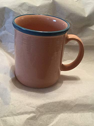 Vintage Rio Stoneware Japan Pink With Blue Trim (Coffee Cups Japan Stoneware)
