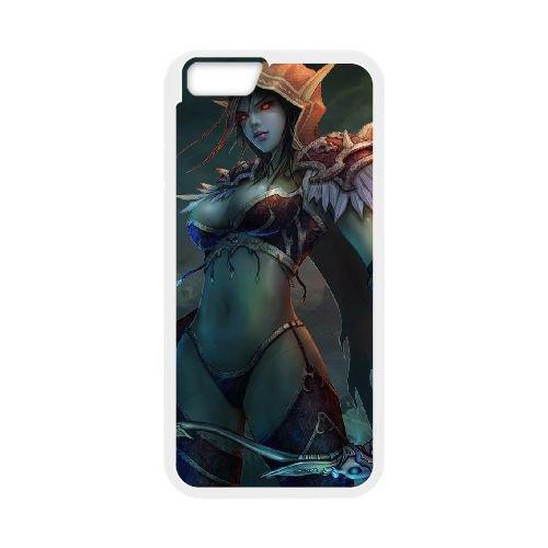 Sylvanas Windrunner coque iPhone 6 Plus 5.5 Inch cellulaire cas coque de téléphone cas blanche couverture de téléphone portable EEECBCAAN08431