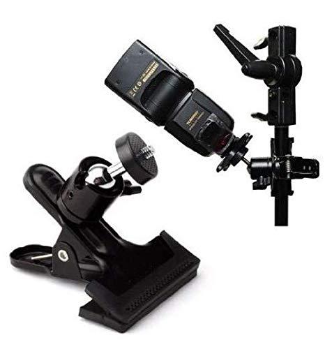 metal LINSUNG Pinza con r/ótula de bola para flash de fotograf/ía color negro