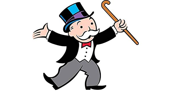 DONL9BAUER Monopoly Man Rich Uncle Pennybags calcomanía de ...