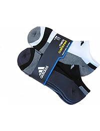 Mens Adidas No Show Athletic Socks 6 Pack (Black/Dark...