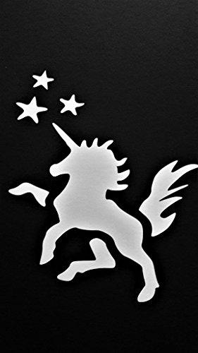 Chase Grace Studio Unicorn My Little Pony Inspired Vinyl Decal Sticker|White|Cars Trucks Vans SUV Laptops Wall Art|5.5