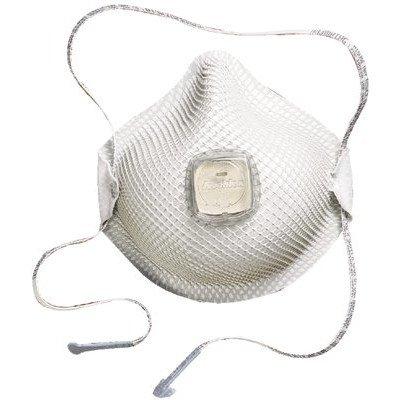 Moldex 2700N95 2700N95 Series HandyStrap Respirator, Half-Face Mask, Medium/Large, 10/Box