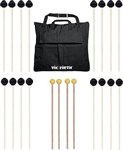 Vic Firth Keyboard Mallet 10-Pack w/ Free Mallet Bag M182(4), M188(4) - Keyboard Mallet Bag
