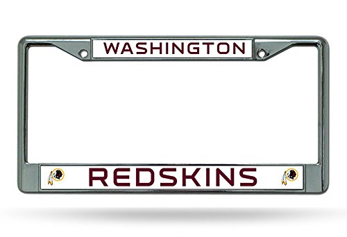 NFL Washington Redskins Chrome Licensed Plate Frame