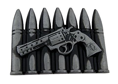 Gun Bullets Scorpion Vintage Finished Belt Buckle. (Hebillas De Rodeo)