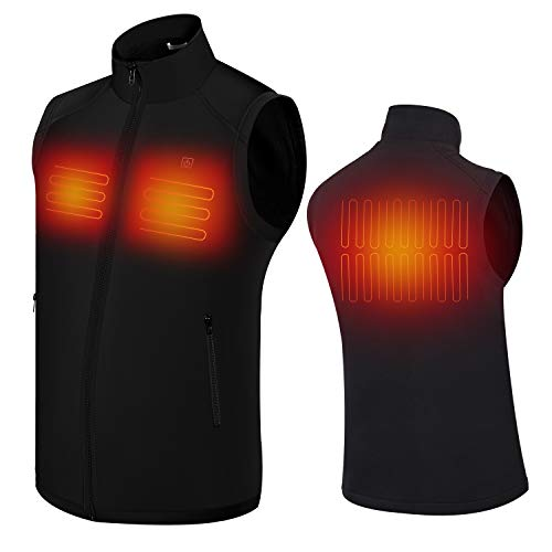 Electric Heated Vest for Men | Keeps You Warm for Longer | Adjustable Temperature | Comfortable & Lightweight Material | Portable & Washable | for Indoor & Outdoor Use