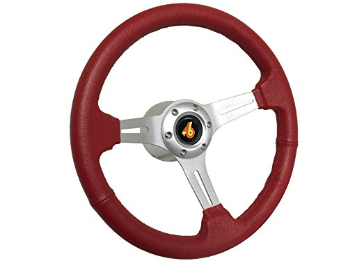 1982 1983 1984 1985 1986 1987 1988 1989 Buick Grand National Red Sport Steering Wheel Brushed Kit, Hub & (Sport Muscle Wheels)