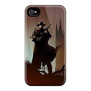 (cAA607tGRi)durable Protection Case Cover For Iphone 4/4s(dark Tower Comic Vector)