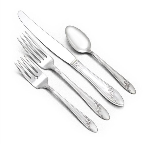 - Queen Bess II by Tudor Plate, Silverplate 4-PC Setting, Dinner