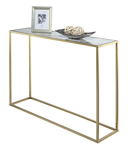 Buy Coffee Table Gold Coast: Convenience Concepts Gold Coast Faux Marble Console Table