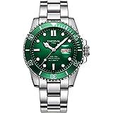 Mens Automatic Watch Analog Watch 30M Waterproof Watch Green Dial Luminous Watch