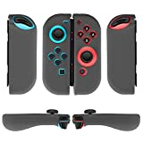 TNP Nintendo Switch Joy-Con Grip Gel Guards with Thumb Grips Caps – Protective Case Covers Anti-Slip Ergonomic Lightweight Design Joy Con Comfort Grip Controller Skin Accessories (1 Pair Neon Gray) Review