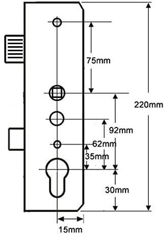 35mm Avantis Double Spindle Deadbolt Gearbox