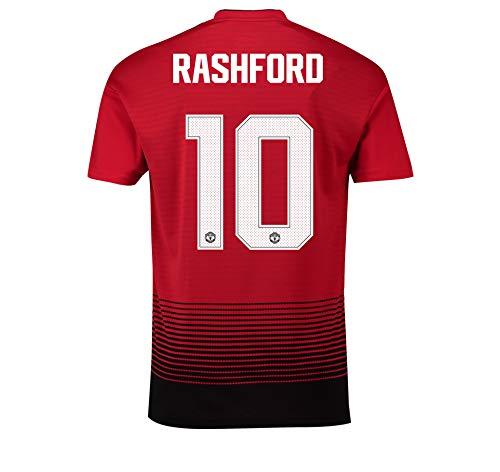 Manchester United FC Official Soccer Gift Mens Rashford 10 Home Kit Shirt LGE.
