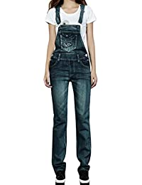 Fashion New Womens Denim Ripped Hole Bib Overall Jumpsuit Casual Jeans Pants