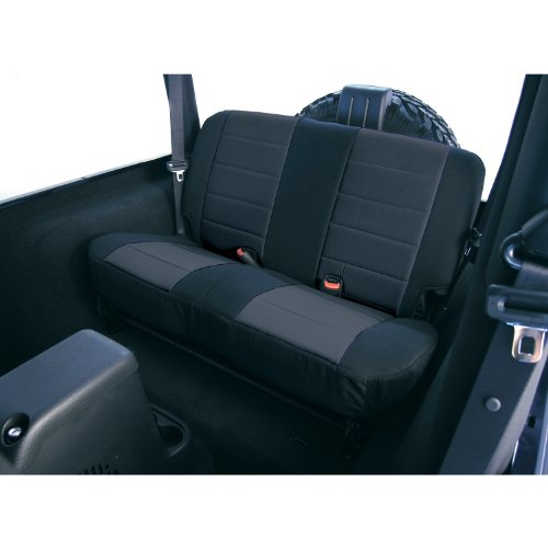- Rugged Ridge 13280.01 Black Custom Fit Poly Cotton Rear Seat Cover