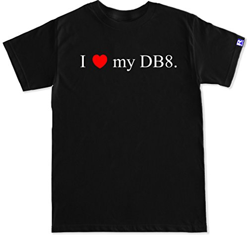 (FTD Apparel Men's I Love My DB8 Integra Type R Motor Engine Car Racing JDM T Shirt-XXL Black)
