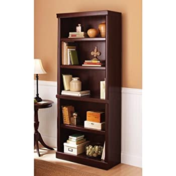 Amazon Com Sauder 410367 5 Shelf Split Bookcase L 35 28