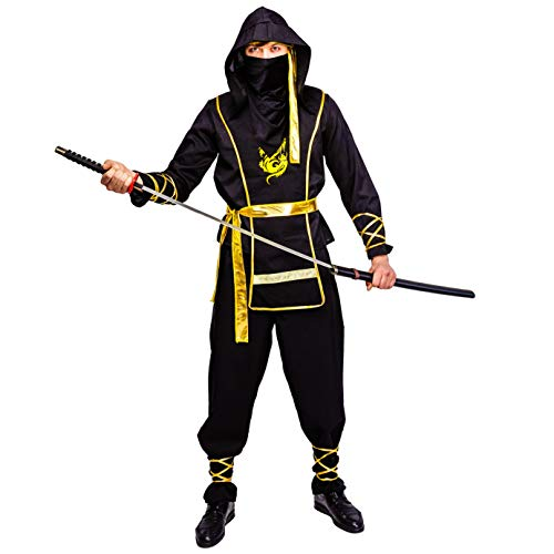 Men's Golden Dragon Ninja Costume]()