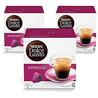 NESCAFÉ Dolce Gusto Cápsulas de Café Espresso, Pack de 3 x 16 Cápsulas - Total: 48 Cápsulas de Café