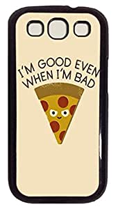 Bad Pizza Custom Samsung Galaxy S3 I9300 Case Cover Polycarbonate Black