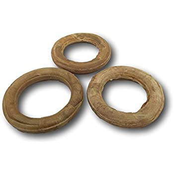 """Amazon.com : Top Dog Chews 6"""" Pressed Rawhide Ring 3 Pack"""