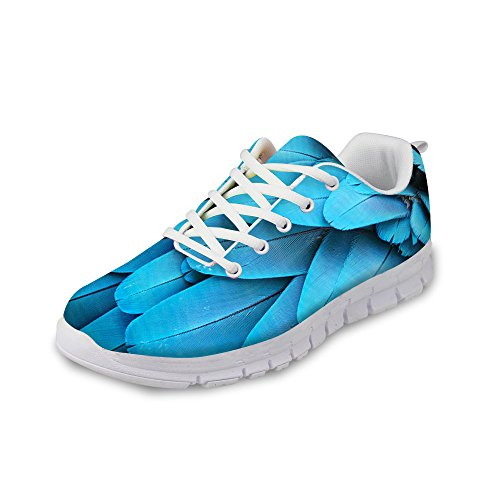 Blue Funky Shoes Running Women Feather amp; Men Peacock Bigcardesigns Sneakers Parrot fw84Evwq