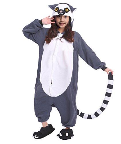 Hstyle Children's Onesie Pajamas Animal Cosplay Lemur -