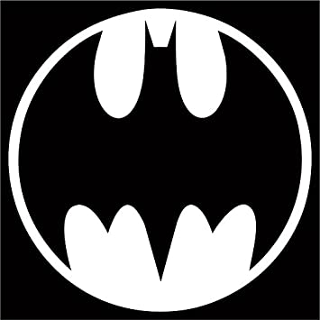 Amazon Bat Signal Decal Sticker White 4 Batman Medallion
