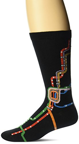 Ozone Men's Chicago CTA l Map Sock, Black, 10-13
