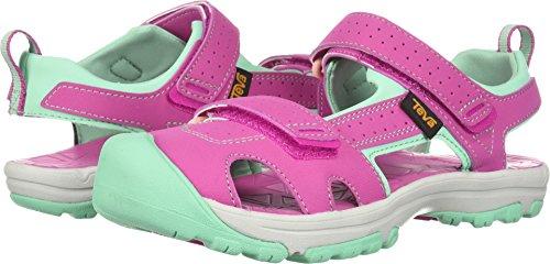 Teva Girls' K Hurricane Toe PRO Sport Sandal, Raspberry, 3 M US Little Kid