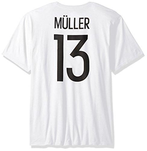 International Soccer Bayern Munich Adult Men Global Soccer Jersey Hook S/Tee, Large, White (Bayern Munchen Soccer)