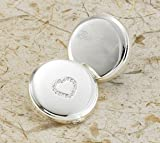 Personalized JDS Gifts Travel Sweetheart silver Plated Compact Mirror by Personalized JDS Gifts