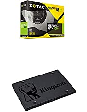 Pack de tarjeta gráfica y SSD - ZOTAC GTX 1060 AMP! Edition, NV, GTX1060, GDDR5X, 6GB y SSD Kingston A400 de 240 GB