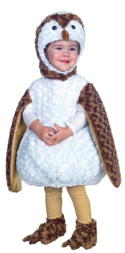 UHC White Barn Owl Outfit Toddler Fancy Dress Halloween Costume